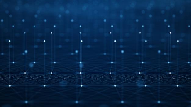 Motion of digital data flow. Premium Photo
