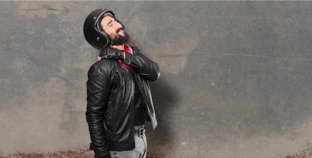 Motorbike rider accident victim Premium Photo