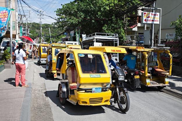 Motorized tricycle Premium Photo