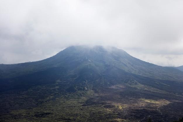 Mount batur volcano at bali, indonesia Premium Photo