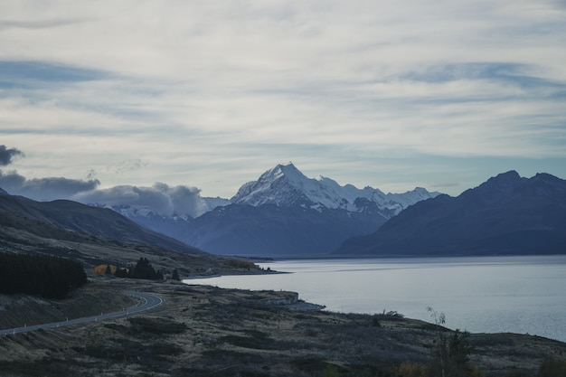 Mount cook new zealand Premium Photo