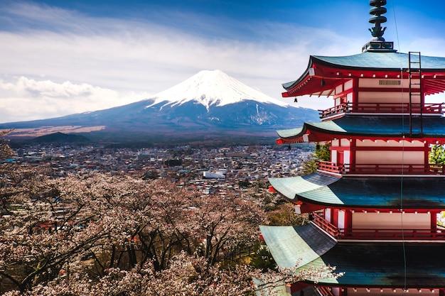 The mount fuji in japan Premium Photo