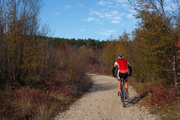 Mountain bike cyclist Premium Photo