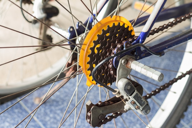 The mountain bike gears cassette Premium Photo