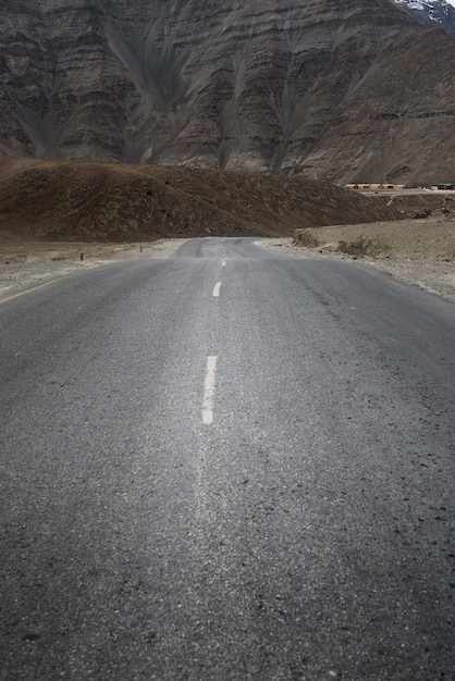 Mountain hill with cloudy day in leh ladakh Premium Photo