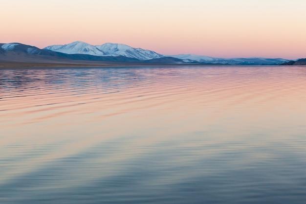 Mountain lake mongolia Premium Photo