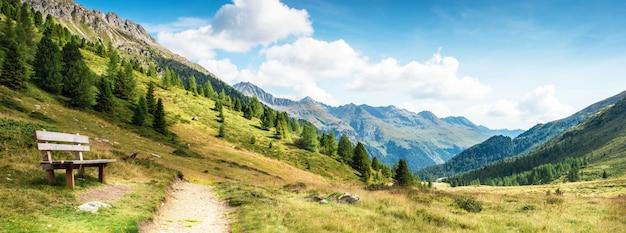 Mountain panorama of the dolomites Premium Photo