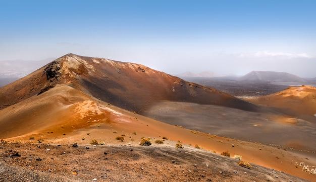 Mountains of fire,timanfaya on lanzarote Premium Photo