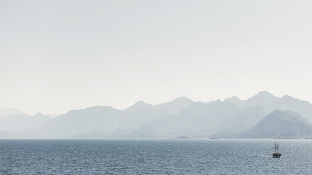 Mountains and ocean landscape Free Photo
