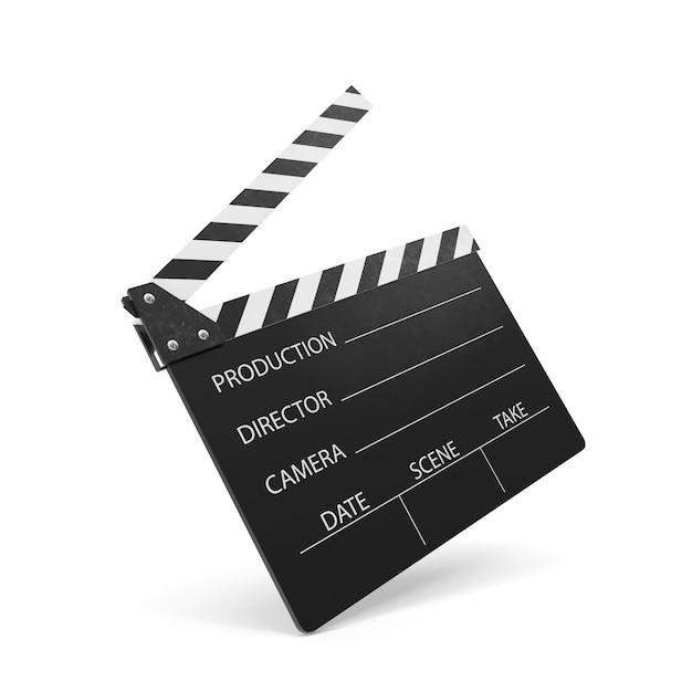 Movie clapper isolated Premium Photo