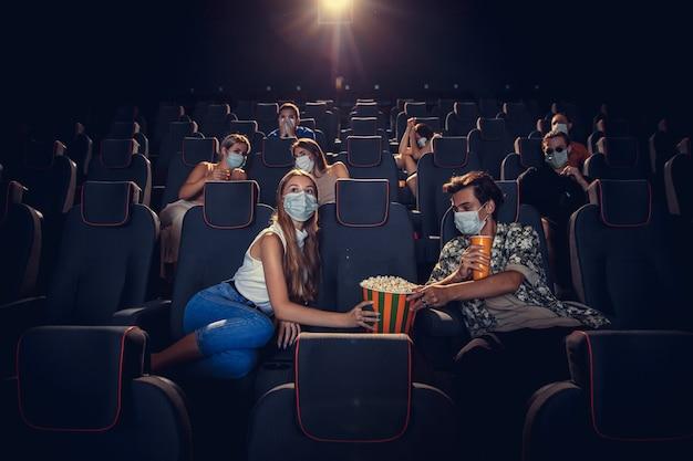 Movie theatre during quarantine Free Photo