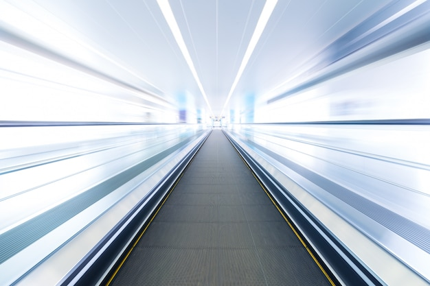 Moving walkway and light on background. Premium Photo