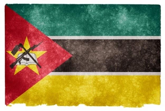 Mozambique grunge flag Free Photo