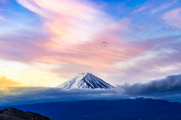 Mt.fuji sunrise Premium Photo