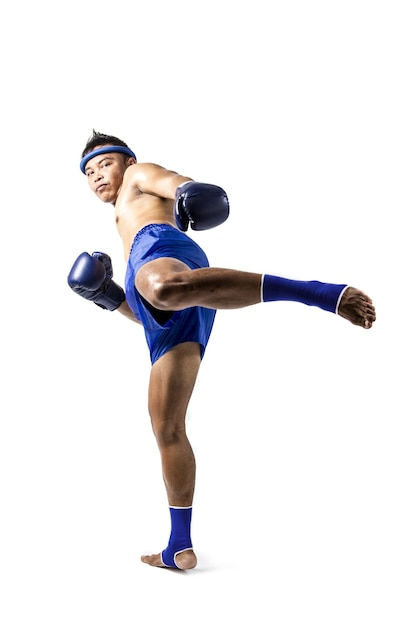 BLUE MUAY THAI KICKBOXING BOXERS COMPETITION ARM BANDS