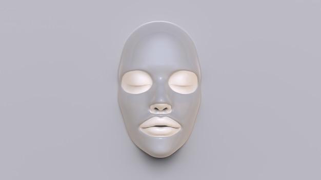 Mud sheet mask 3d render Premium Photo