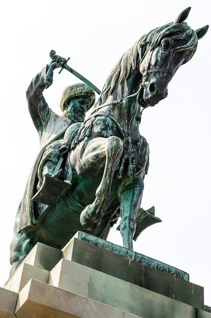 Muhammed ali pasha scultura in bronzo in grecia Foto Gratuite