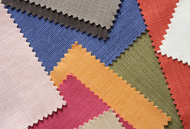 Multi color fabric texture samples Free Photo