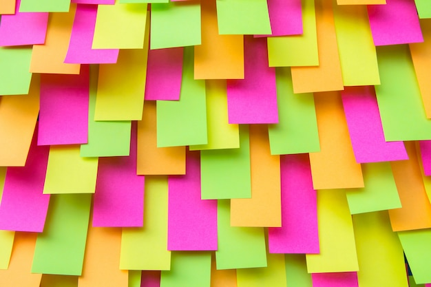 Multi colored post note sticker, paper note, sticky notes