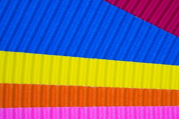 Multi coloured corrugated paper texture Premium Photo