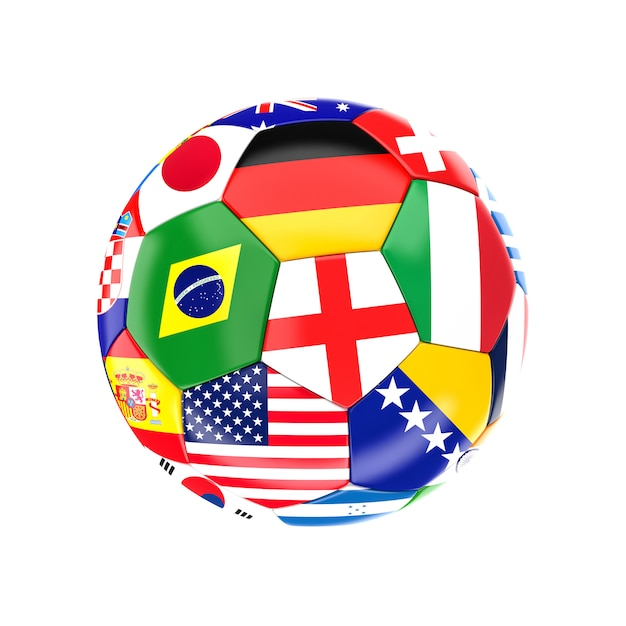 Multi soccer ball Premium Photo