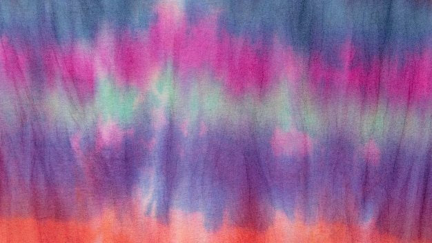 Multicolored gradient tie-dye fabric surface Free Photo