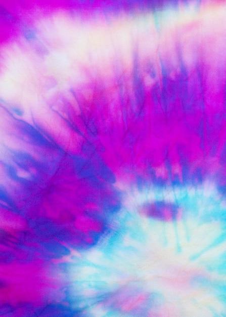 Multicolored gradient tie-dye fabric texture Free Photo