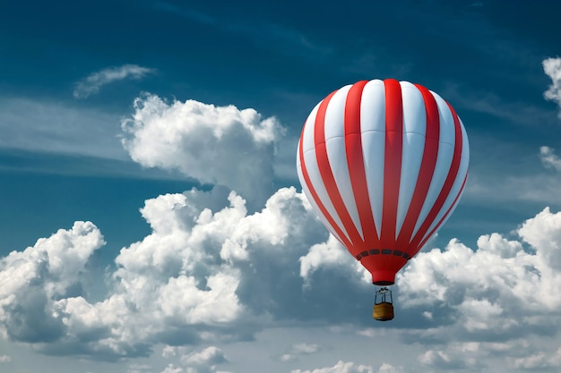 Multicolored, large balloons against the blue sky Premium Photo