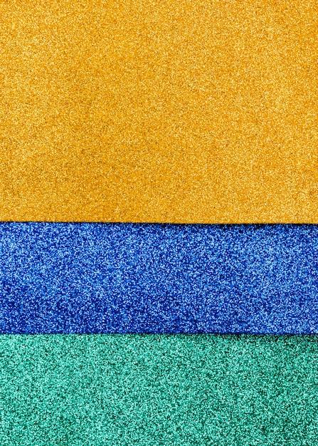 Strati multicolori di glitter con spazio di copia Foto Gratuite