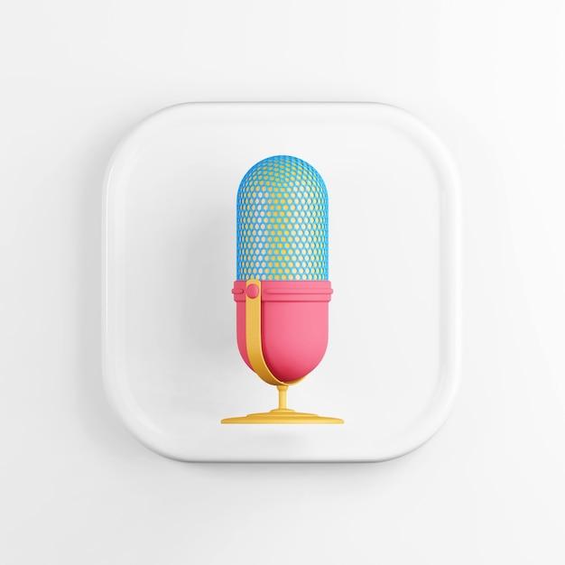 Multicolored microphone icon Premium Photo