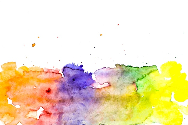 Multicolored wet brush painted smudges background Free Photo