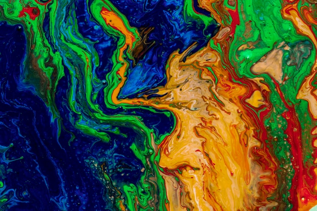 Multicolour colourful background in acrylic pouring Free Photo