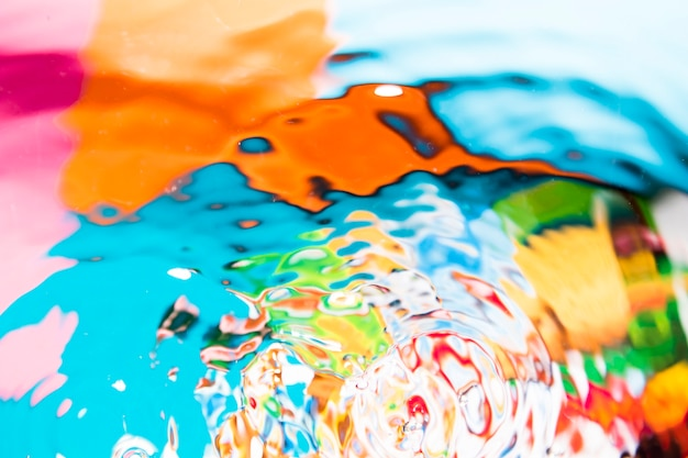 Multicoloured water waves top view Free Photo