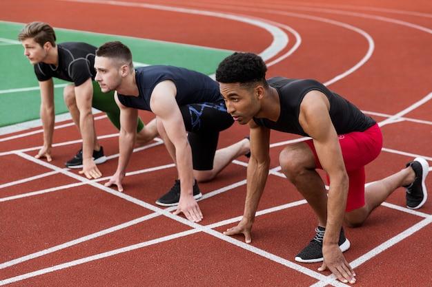 Multiethnic athlete group Free Photo