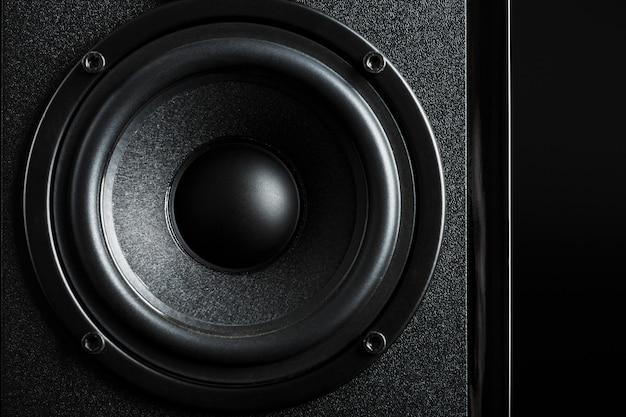 Multimedia speaker system speaker close-up Premium Photo