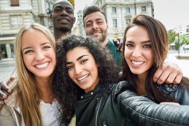 Multiracial Group Of Young People Taking Selfie Photo -2216