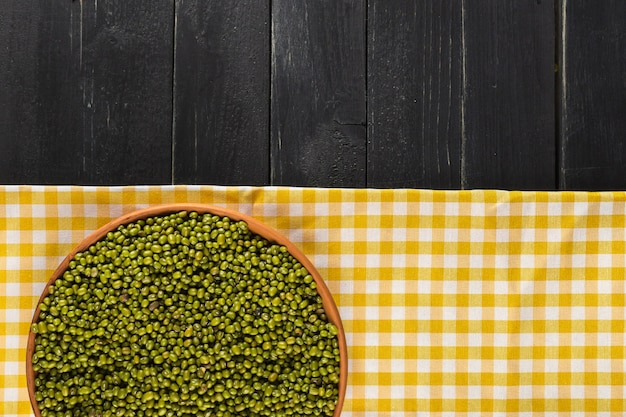 Mung beans on the table Premium Photo