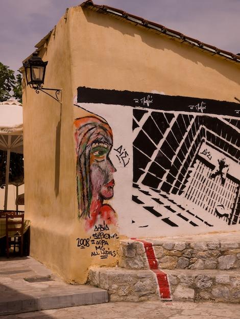 Фреска в афинах греция Premium Фотографии
