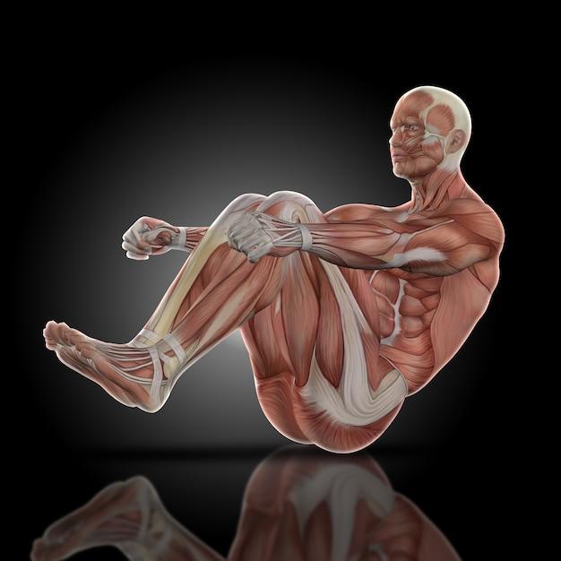 Muscular Man Doing Sit Ups Photo Free Download