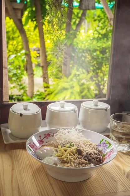 Mush rice boiled rice thai food breakfas popular asian breakfast Premium Photo