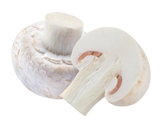 Mushroom champignon isolated on white Premium Photo