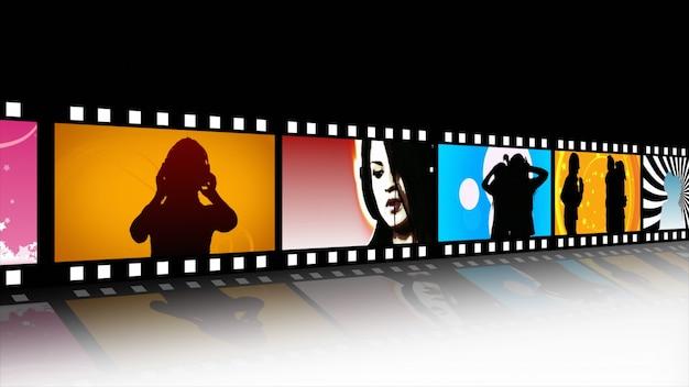 Music And Dance Film Reel Premium Photo