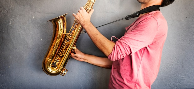 Musician saxophone jazz artist passion concept Premium Photo
