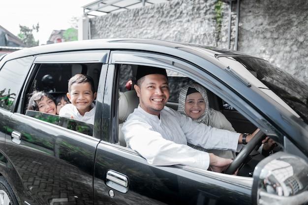イスラム教徒の家族の休日 Premium写真