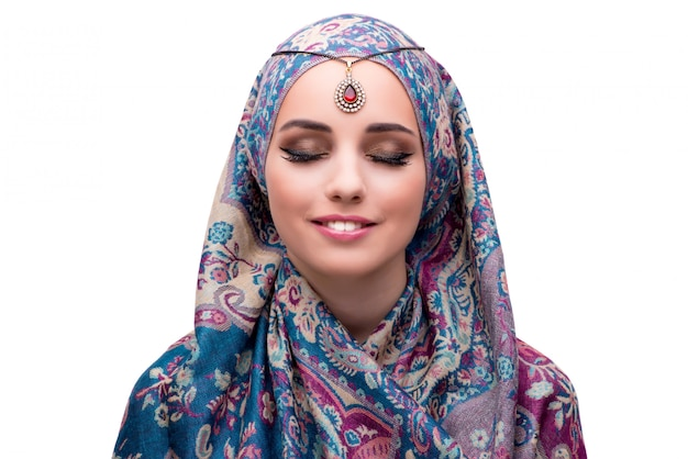 Muslim woman in fashion concept isolated Premium Photo