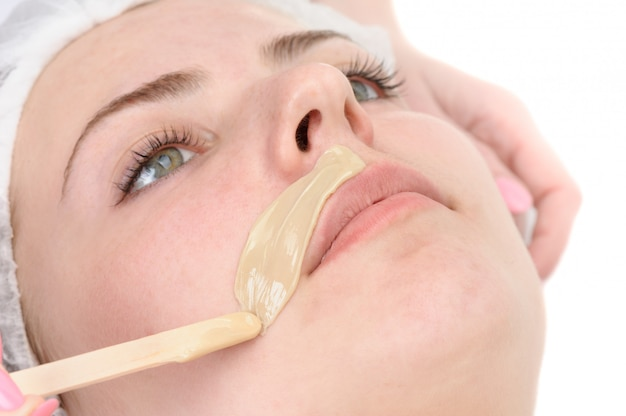 Mustache depilation Premium Photo