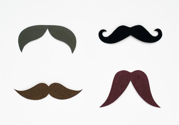 Mustache paper craft Free Photo
