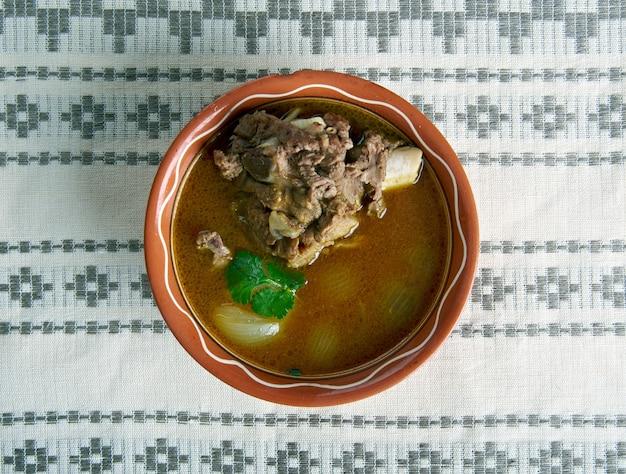 양고기 Paya 전통 남아시아 음식 프리미엄 사진