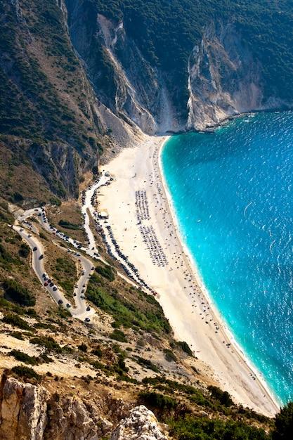 Myrtos beach, kefalonia Premium Photo