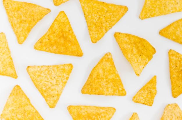 Nacho chips pattern Free Photo